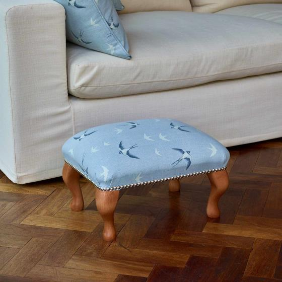 Stuart Jones RSPB Marlow footstool, swallows product photo Front View - additional image 1 L