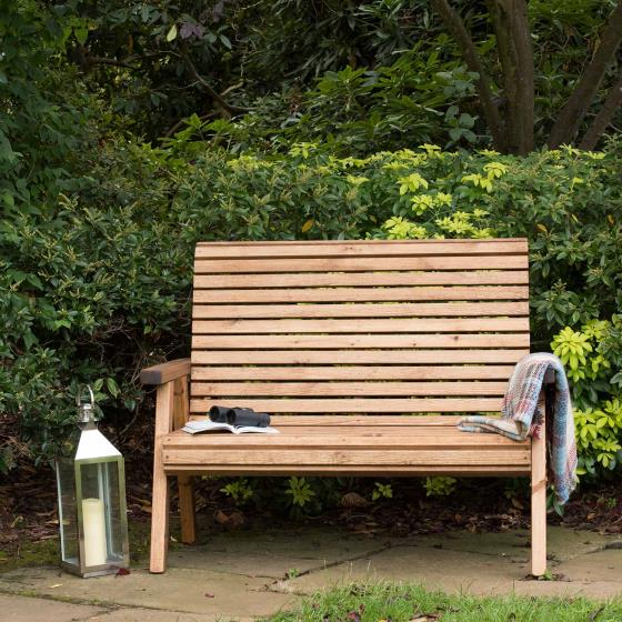 Two seater bench - RSPB Garden furniture, Lodge Collection product photo Front View - additional image 1 L