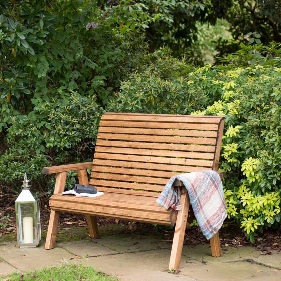 Two seater bench - RSPB Garden furniture, Lodge Collection product photo Back View -  - additional image 2 L