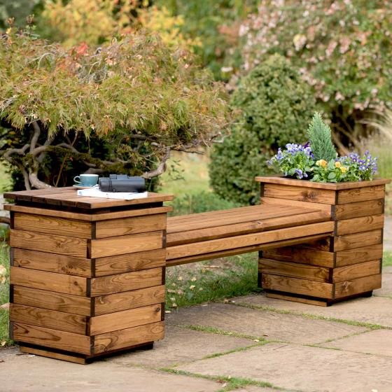 Planter bench - RSPB Garden furniture, Lodge Collection product photo Front View - additional image 1 L
