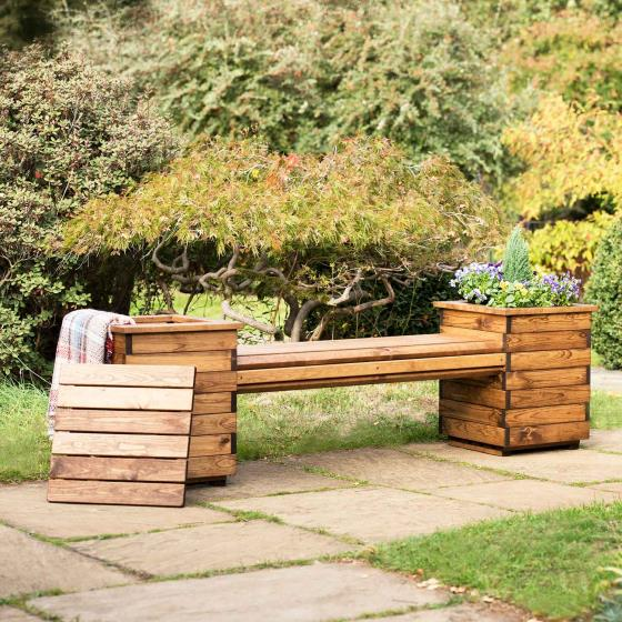 Planter bench - RSPB Garden furniture, Lodge Collection product photo Back View -  - additional image 2 L