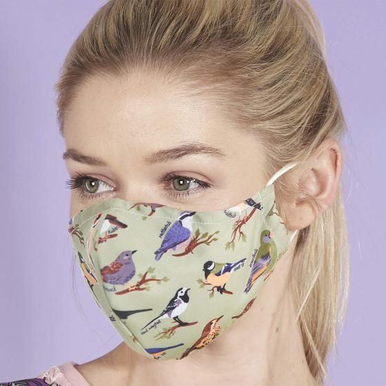 Reusable face mask, birds design product photo Default L