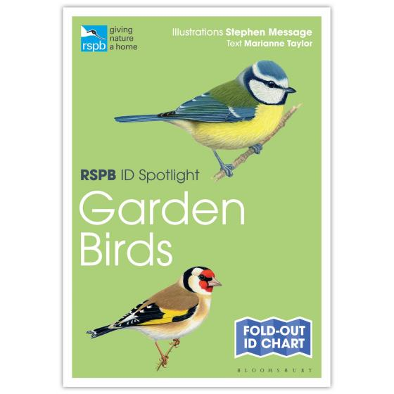 Garden birds identifier chart - RSPB ID Spotlight series product photo