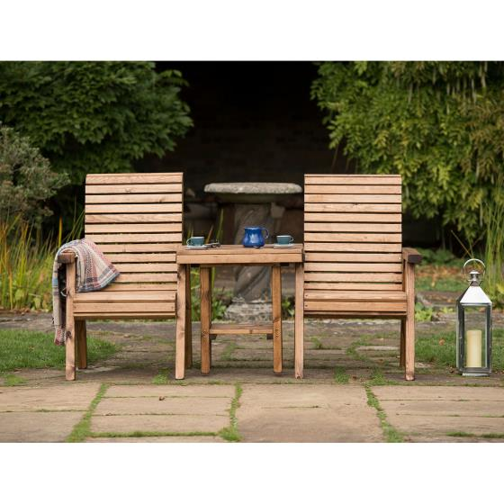 Love seat - RSPB Garden furniture, Lodge Collection product photo Front View - additional image 1 L