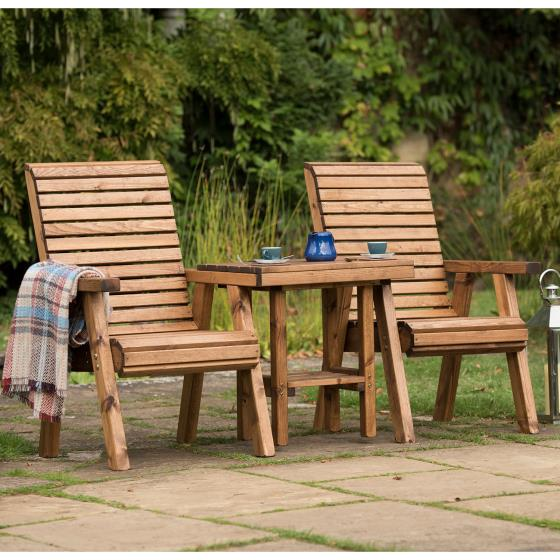 Love seat - RSPB Garden furniture, Lodge Collection product photo Back View -  - additional image 2 L