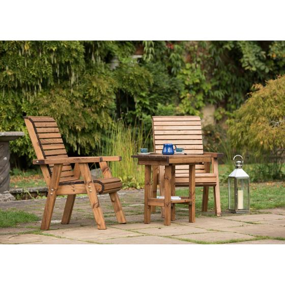Love seat - RSPB Garden furniture, Lodge Collection product photo Side View -  - additional image 3 L