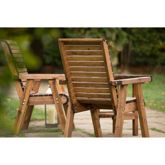 Love seat - RSPB Garden furniture, Lodge Collection product photo additional image 4 L