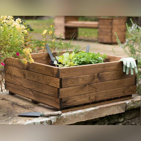 Vegetable raised box - RSPB Garden furniture, Lodge Collection product photo Front View - additional image 1 L