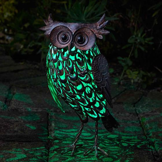 Owl solar light, large product photo additional image 4 L