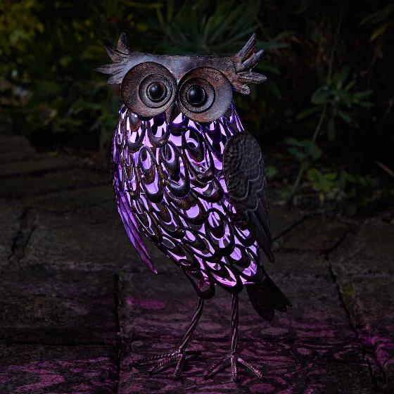 Owl solar light, large product photo additional image 5 L