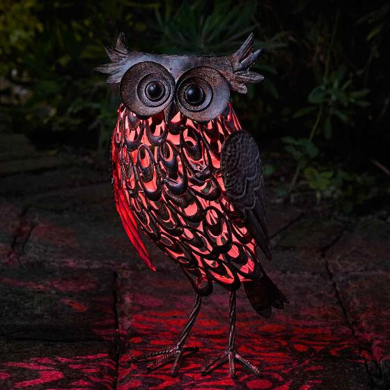 Owl solar light, large product photo additional image 6 L