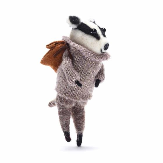Gisela Graham winter badger decoration product photo Side View -  - additional image 3 L