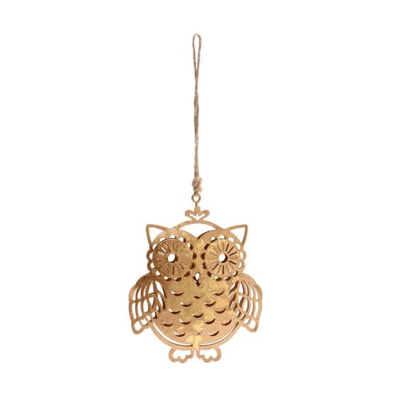 Gold metal owl decoration product photo