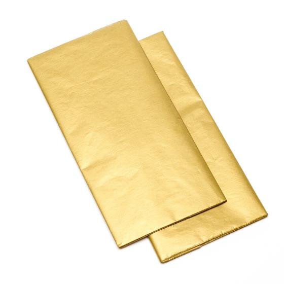 Gold recyclable tissue paper x3 sheets product photo Default L