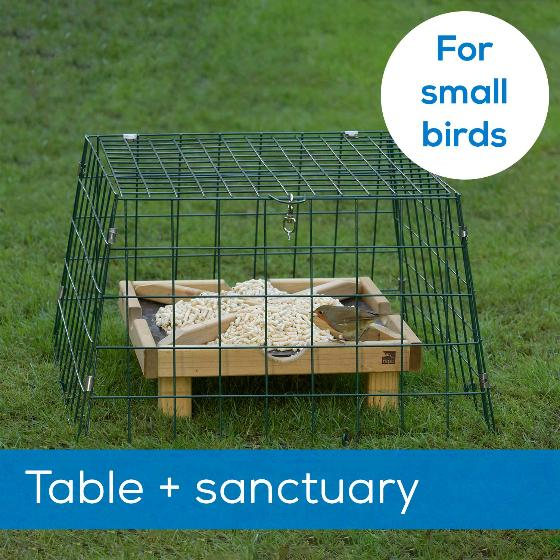 Ground feeding table plus Flat-topped wide mesh sanctuary - New design product photo Default L