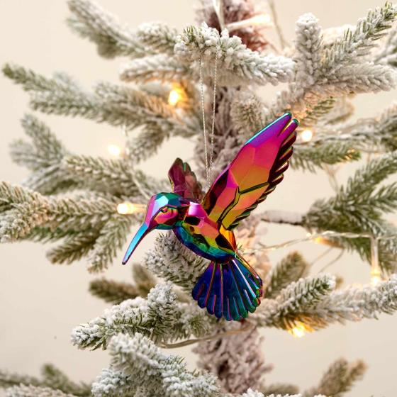 Hummingbird tree decoration - Gisela Graham product photo Side View -  - additional image 3 L