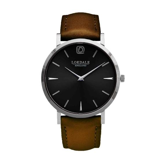 Jackdaw watch - vintage brown strap product photo