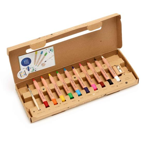 Jumbo watercolour pencils box product photo Front View - additional image 1 L