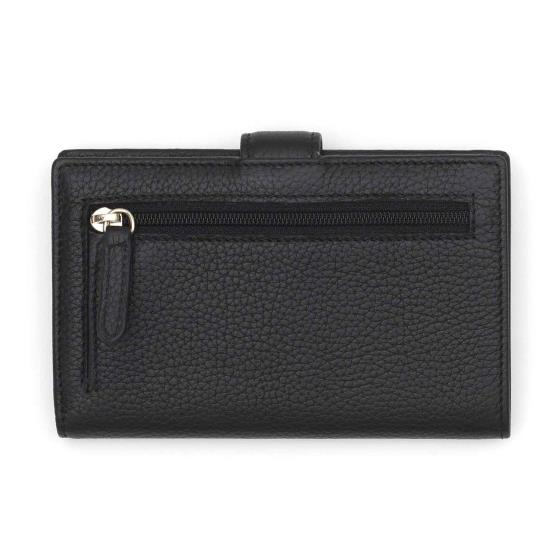 Leather ladies' purse, black product photo Side View -  - additional image 3 L