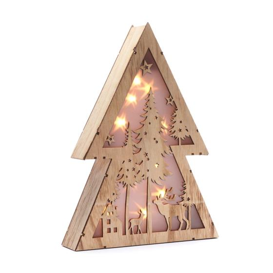 Light up tree wooden decoration product photo