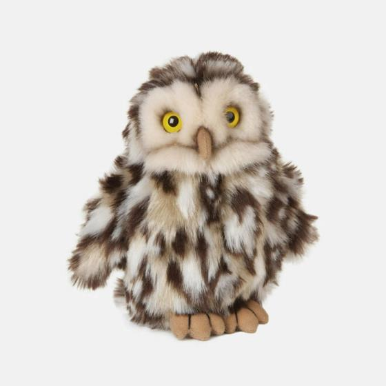 Little owl plush toy with recycled eco stuffing product photo Default L