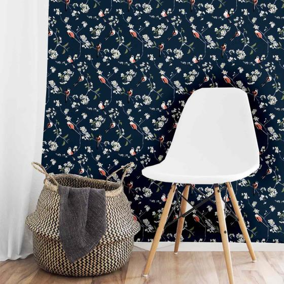 Lorna Syson wallpaper, navy product photo