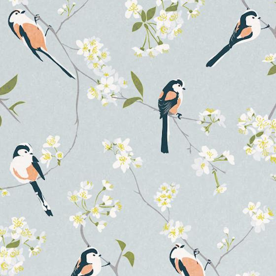 Lorna Syson wallpaper, grey product photo Side View -  - additional image 3 L