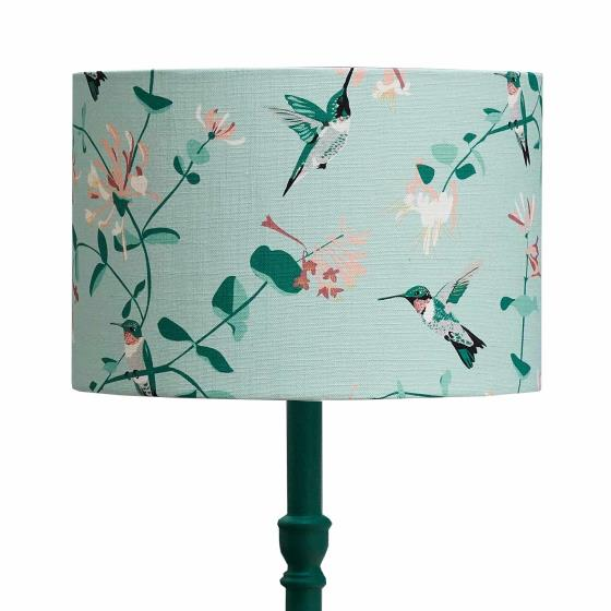 Lorna Syson hummingbird lampshade, mint, 30cm product photo