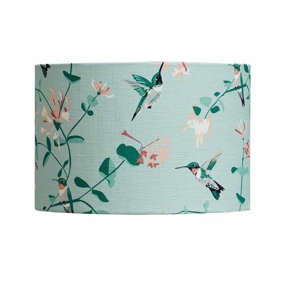 Lorna Syson hummingbird lampshade, mint, 30cm product photo Side View -  - additional image 3 L