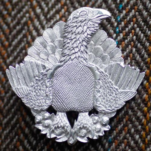 Malcolm Appleby Capercaillie silver brooch product photo Front View - additional image 1 L