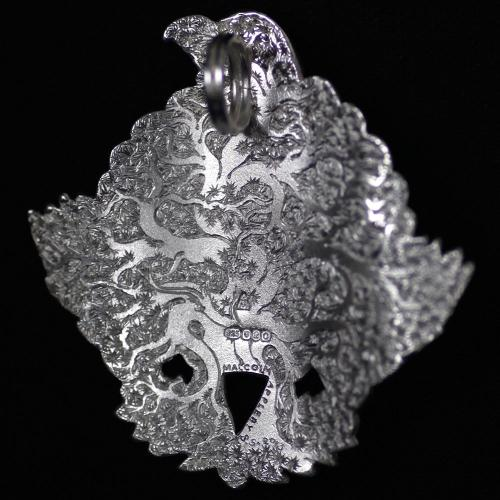 Malcolm Appleby Capercaillie silver pendant product photo Back View -  - additional image 2 L