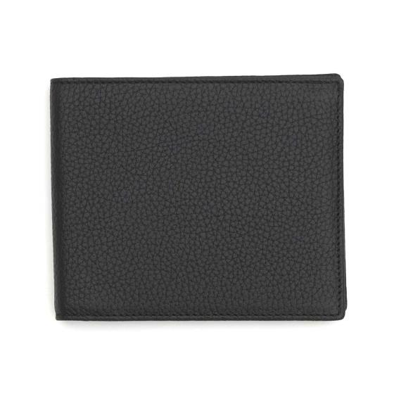 Leather men's wallet, black product photo