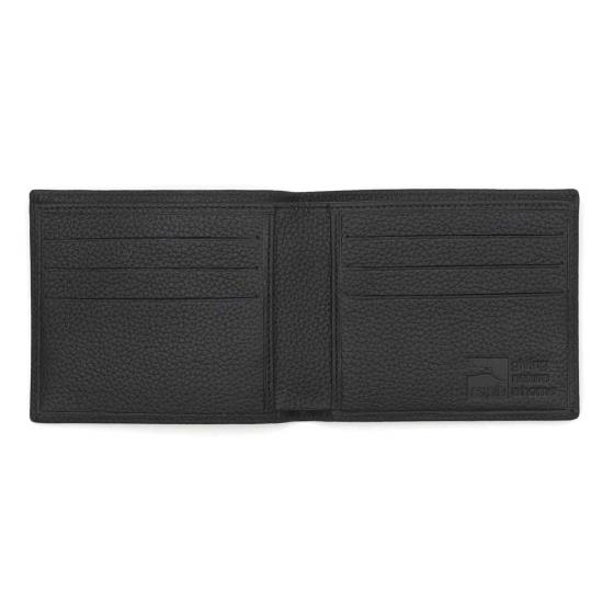 Leather men's wallet, black product photo Side View -  - additional image 3 L