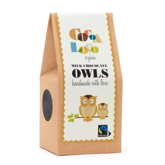 Milk chocolate owls by Cocoa Loco product photo Side View -  - additional image 3 L