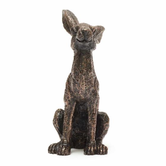 Mini alert hare sculpture product photo Back View -  - additional image 2 L