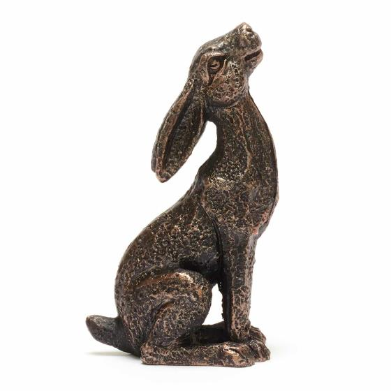 Mini moongazing hare sculpture product photo Side View -  - additional image 3 L