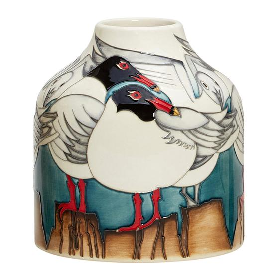 Moorcroft vase, Mediterranean Gulls product photo Default L