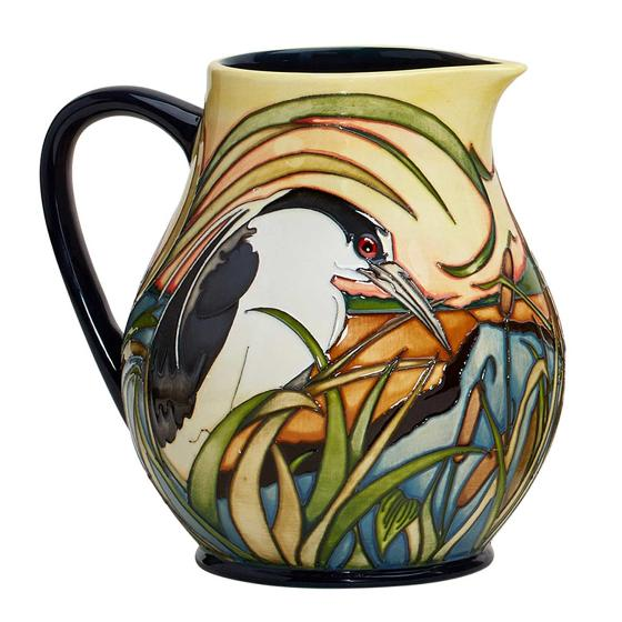 Moorcroft jug, Night Herons product photo Side View -  - additional image 3 L