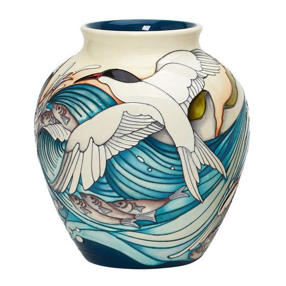 Moorcroft vase, Roseate Terns product photo Side View -  - additional image 3 L