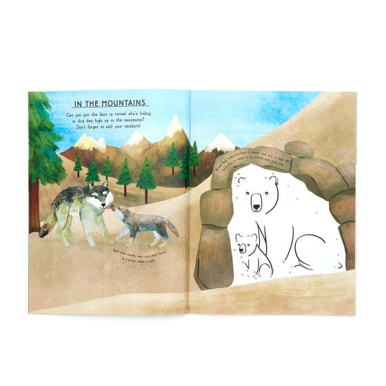 My RSPB Baby Animals sticker activity book product photo Side View -  - additional image 3 L
