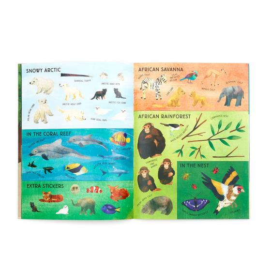 My RSPB Baby Animals sticker activity book product photo Back View -  - additional image 2 L