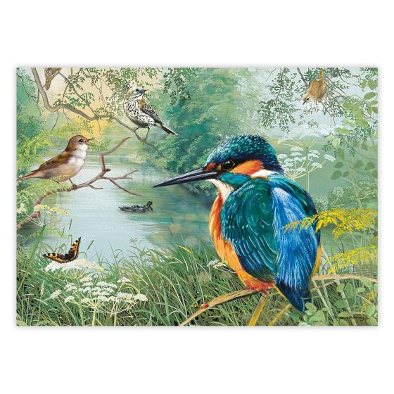 Nature reserve Kingfisher jigsaw product photo Front View - additional image 1 L