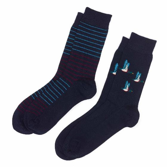 Men's 2 pack bamboo duck socks, navy product photo