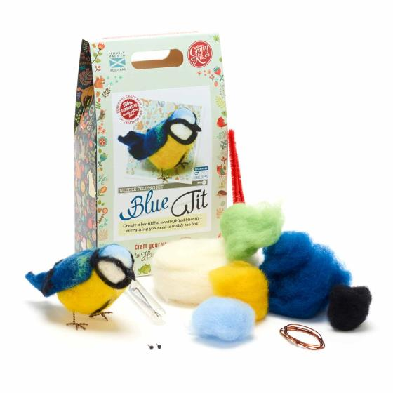 Needle felting kit, Blue tit product photo