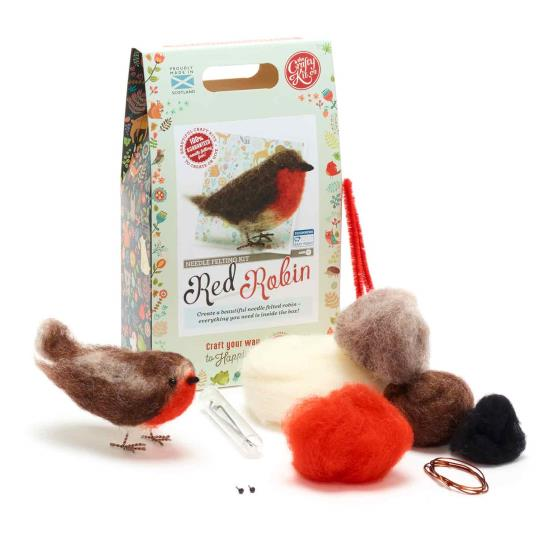 Needle felting kit, Robin product photo