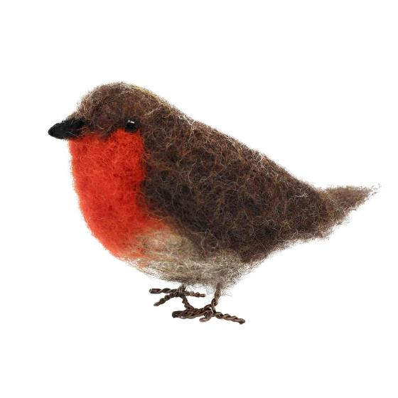Needle felting kit, Robin product photo Front View - additional image 1 L