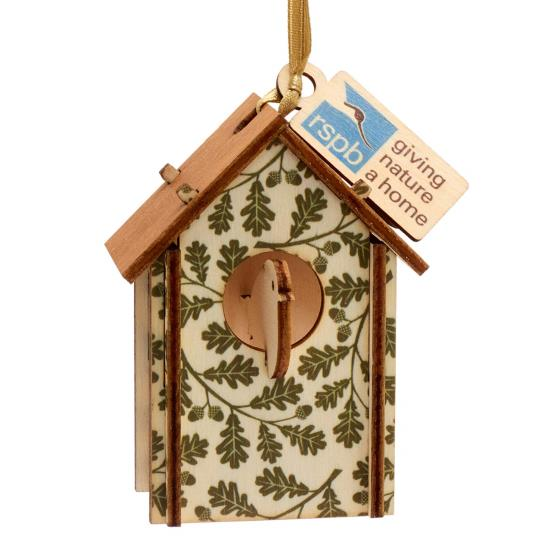 Nest box wooden tree decoration product photo Side View -  - additional image 3 L