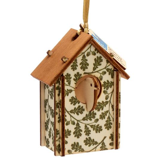 Nest box wooden tree decoration product photo Back View -  - additional image 2 L