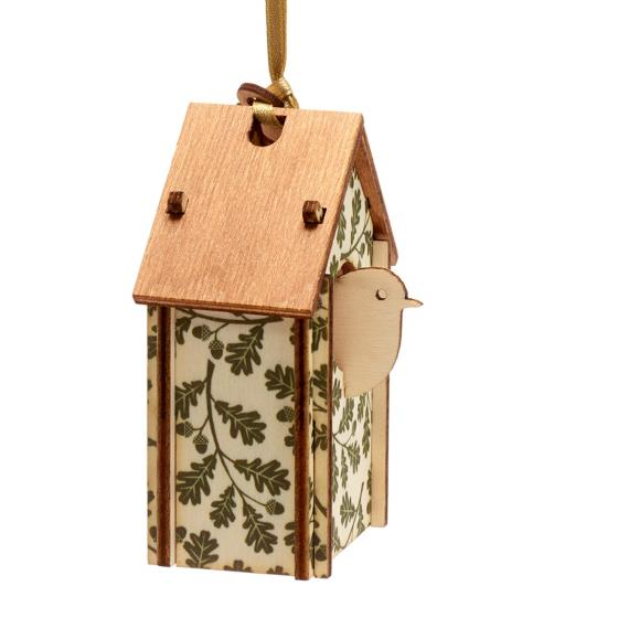 Nest box wooden tree decoration product photo Front View - additional image 1 L
