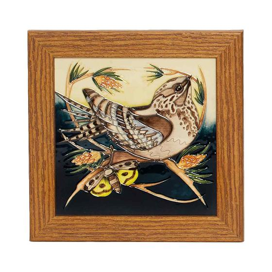 Moorcroft plaque, Nightjar product photo Default L